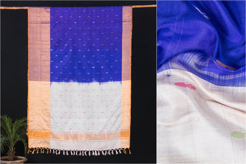 Uppada Pattu Handloom Pure Silk Zari Buti Saree