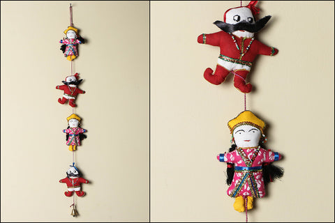 Handmade Traditional Raja Rani Doll Hanging