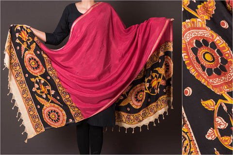 Kalamkari Printed Silk Cotton Dupatta