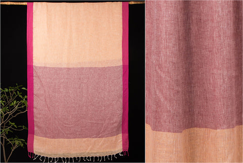 Bhagalpuri Pure Linen Handloom Saree with Blouse