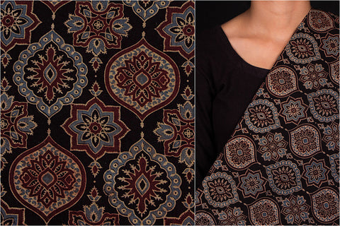 Special Ajrakh Cotton Natural Dyed Fabric
