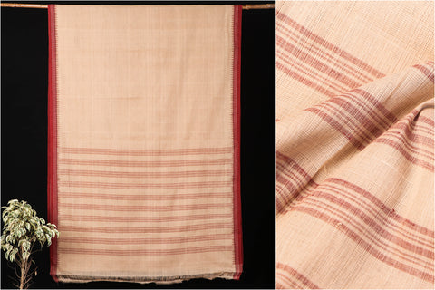 Mangalgiri Godavari Natural Dyed Handloom Cotton Saree with Kuppadam Border by DAMA