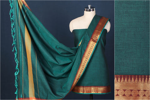 Dharwad Handloom Cotton 3pc Suit Material Set