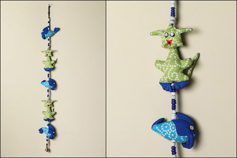 Handmade Cat Fish Hanging Bell