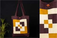 Patchwork Quilted Cotton Square N Square Shoulder Bag