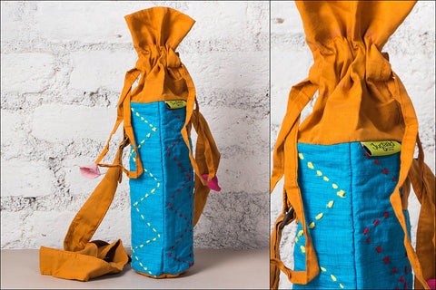 Patchwork Bottle Bag by Jugaad