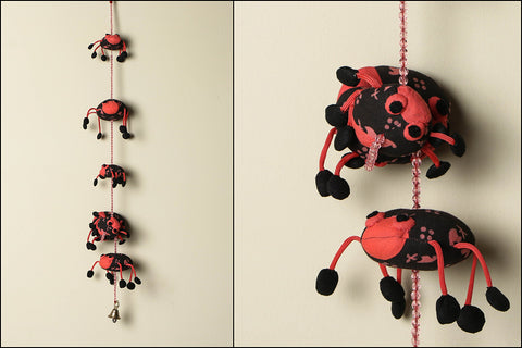 Handmade Lady Bird Hanging with Bell