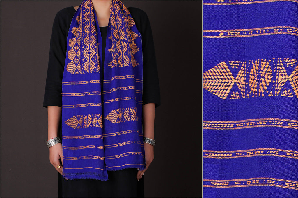 Pure Cotton Handloom Bodo Weave Muffler