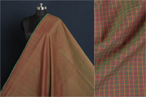 Kanchipuram Handloom Small Checks Cotton Fabric