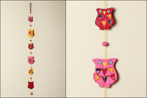 Handmade Owl Hanging With Fabric Ball by SASHA