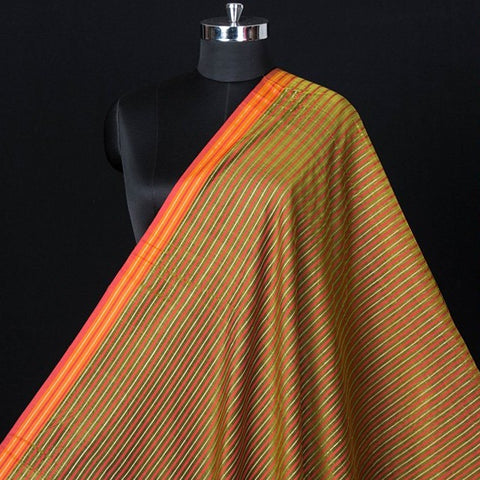 Maheshwari Silk Cotton Pure Handloom Fabric with Woven Border