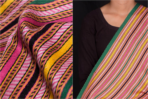 Handwoven Mashru Silk Unstitched Fabric (width - 33 inches)