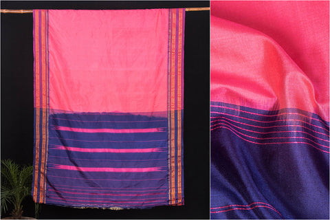 Traditional Pure Silk Narayanpet Handloom Saree with Zari