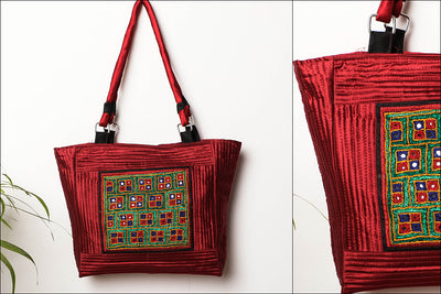 Kutchi Embroidery Mirror Work Shoulder Bag