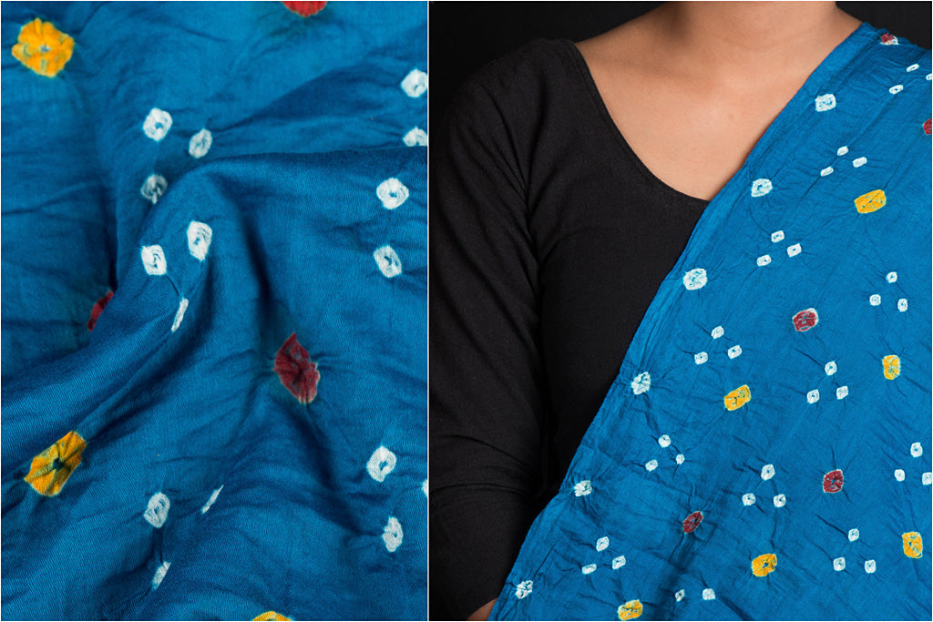 Traditional Kutch Bandhani Tie-Dyed Soft Cotton Fabric