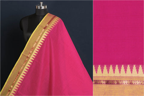 Kanchipuram Cotton Fabric with Thread Border
