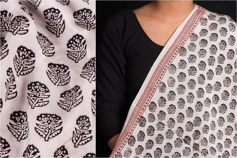 Bagh Block Printed Modal Silk Fabric