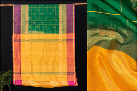 Uppada Pattu Handloom Silk Cotton Zari Buta Saree