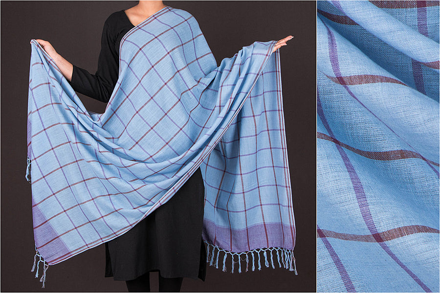 Baragaon Weaves Handloom Cotton Dupatta from Barabanki