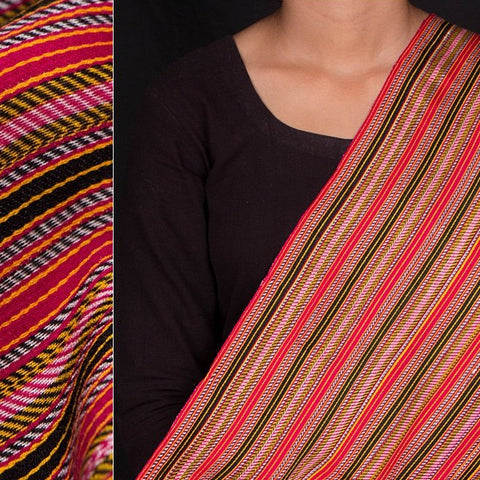 Handwoven Mashru Silk Unstitched Fabric (width - 22 inches)