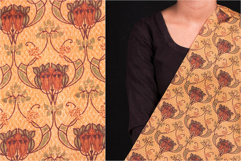 Special Digital Print Chanderi Silk-Cotton Fabric