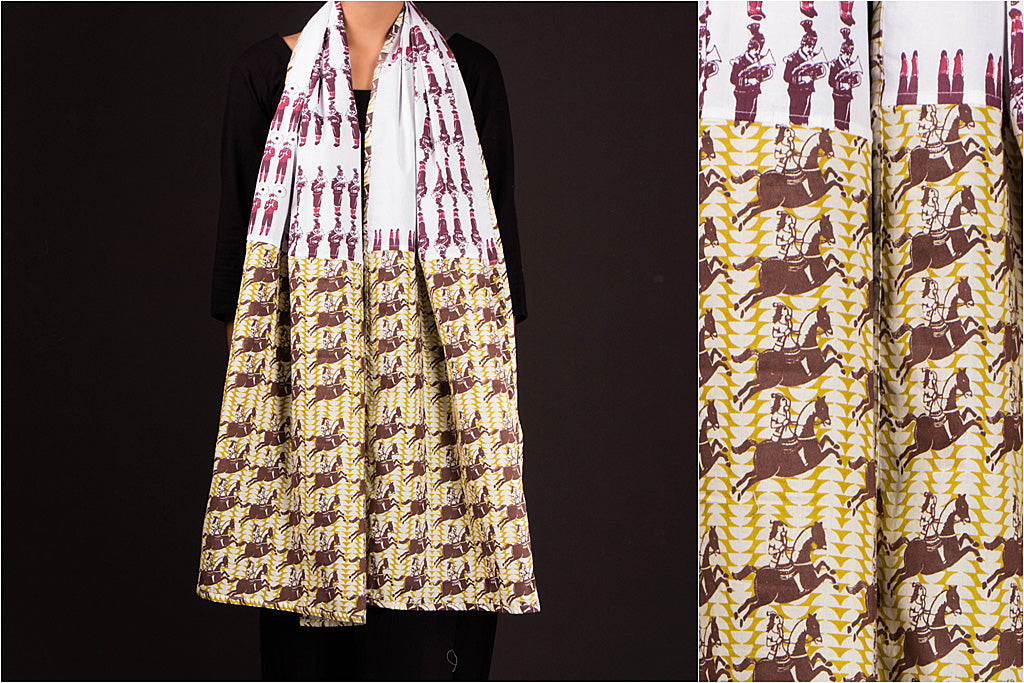 Art Print Cotton Stole by Stoles & Scarves