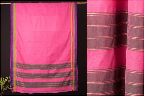 Narayanpet Cotton Silk Border Handloom Saree
