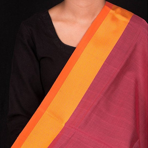 Special Indore Maheshwari Silk Fabric with Border