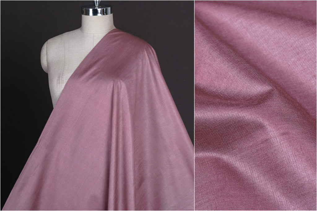Maverick Pink - Vidarbha Tussar Silk Cotton Handloom Fabric