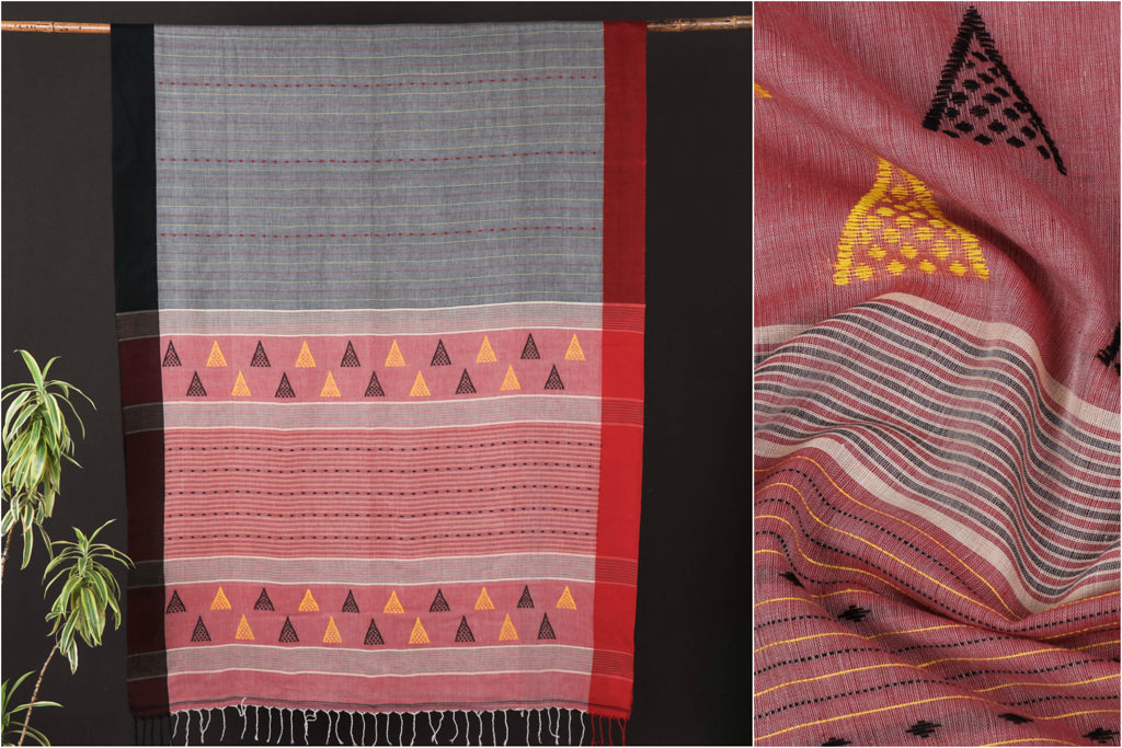 Handloom Pure Cotton Saree from Nadia