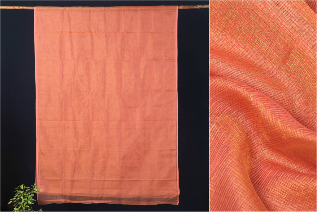 Pure Kota Doria Zari Weave Cotton Saree