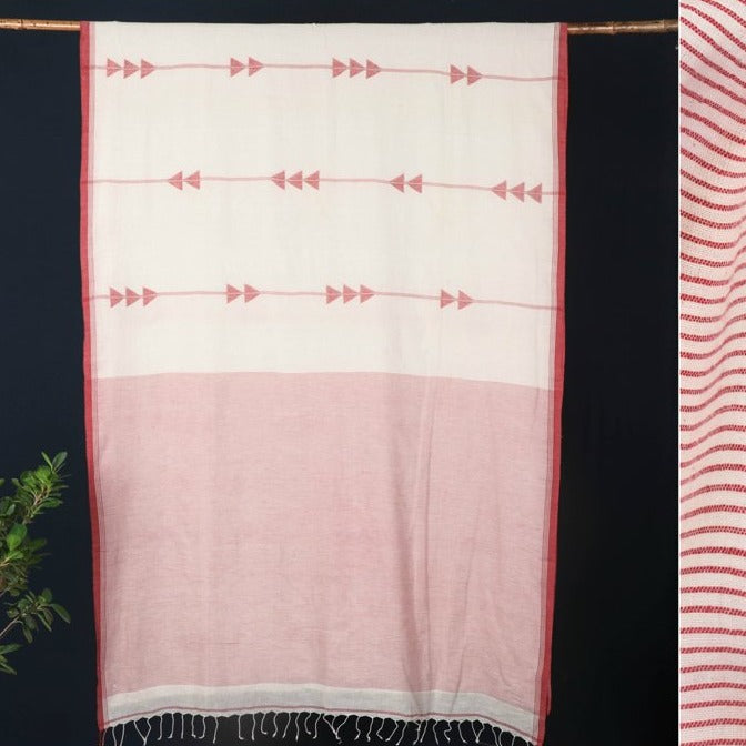Phulia Bengal Jamdani Handwoven Cotton Saree