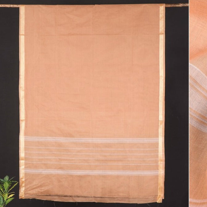 Traditional Chettinad Kandangi Pure Cotton Zari Border Saree from Tamil Nadu