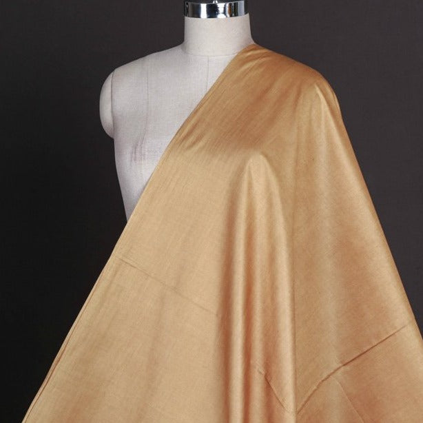 Light Copper - Vidarbha Tussar Silk Cotton Handloom Fabric