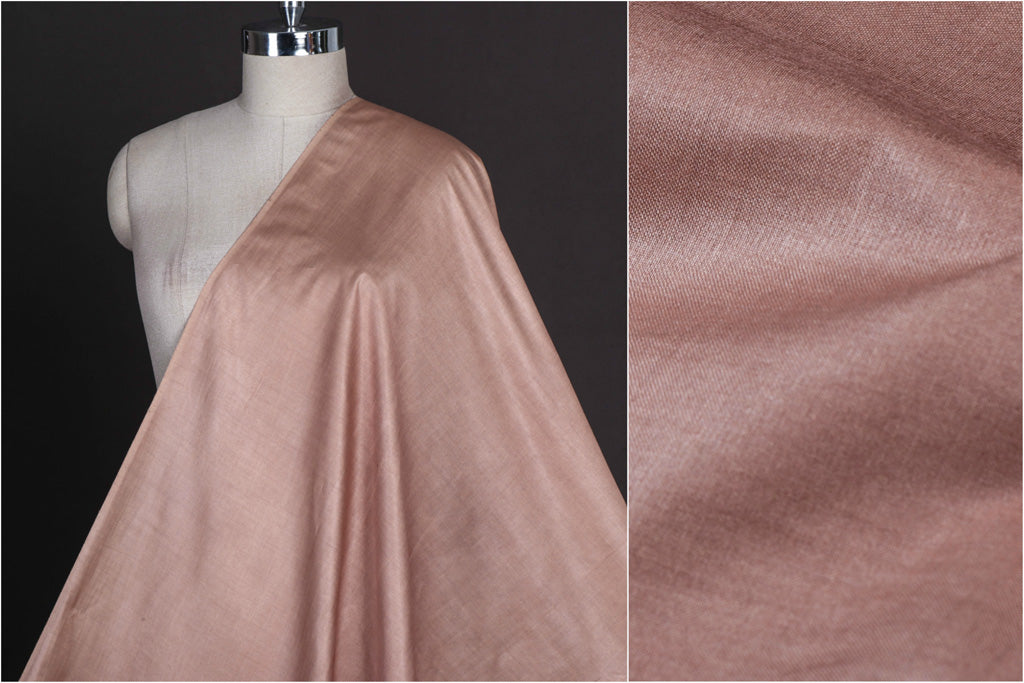 Slate Copper - Vidarbha Tussar Silk Cotton Handloom Fabric