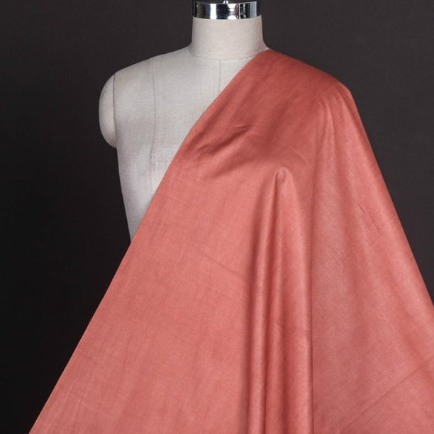 Brick Red - Vidarbha Tussar Silk Cotton Handloom Fabric