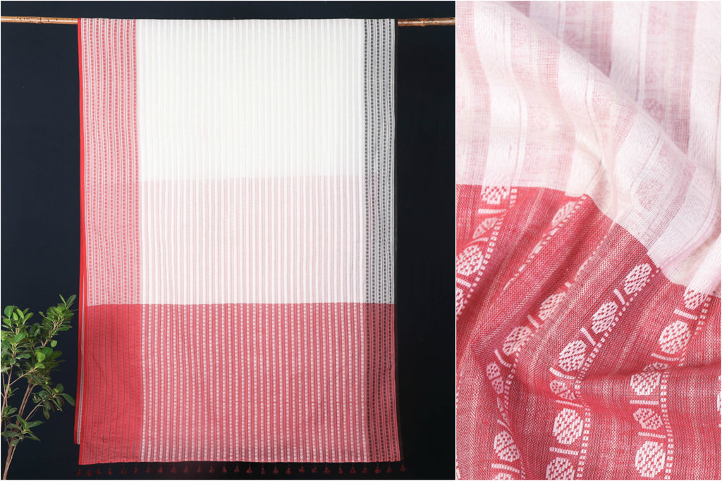 Bengal Jamdani Handloom Pure Cotton Saree
