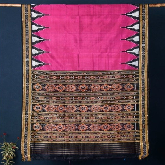 Mulberry Silk Handwoven Sambalpuri Ikat Saree from Odisha