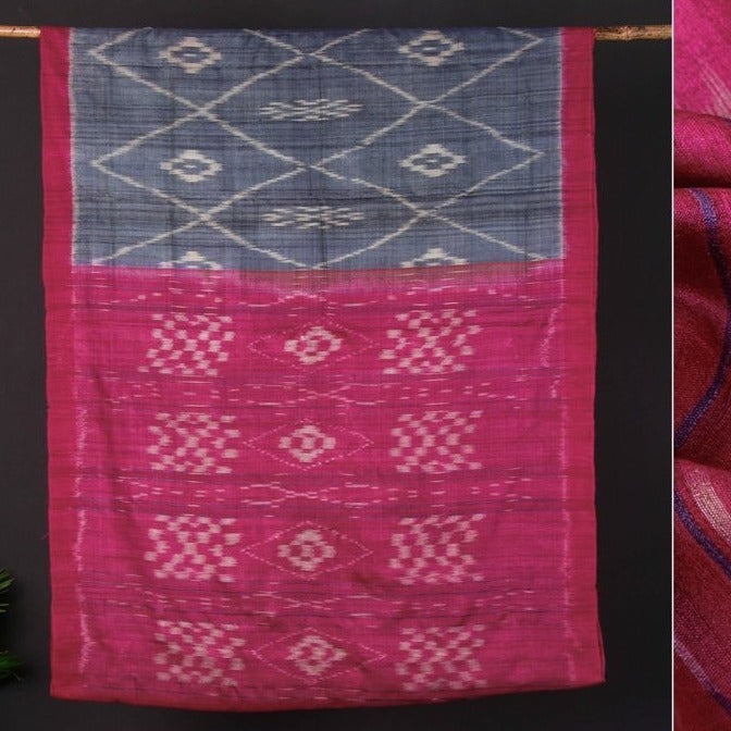 Traditional Gopalpur Pure Handspun Tussar Silk Ikat Handloom Saree