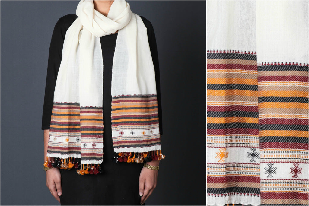 Pure Woolen Pagdi Multi Fuman Stole from Kutch