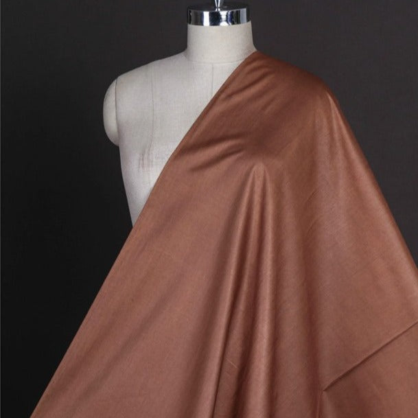 Dark Copper - Vidarbha Tussar Silk Cotton Handloom Fabric