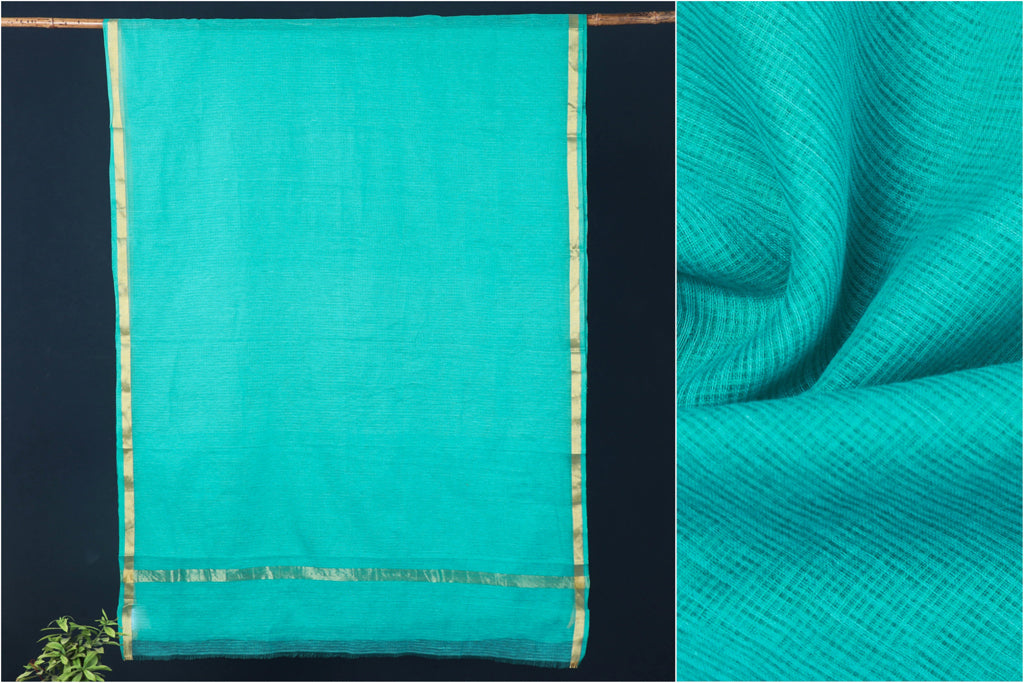 Pure Kota Doria Cotton Saree with Zari Border