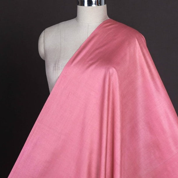 Flamingo Pink - Vidarbha Tussar Silk Cotton Handloom Fabric