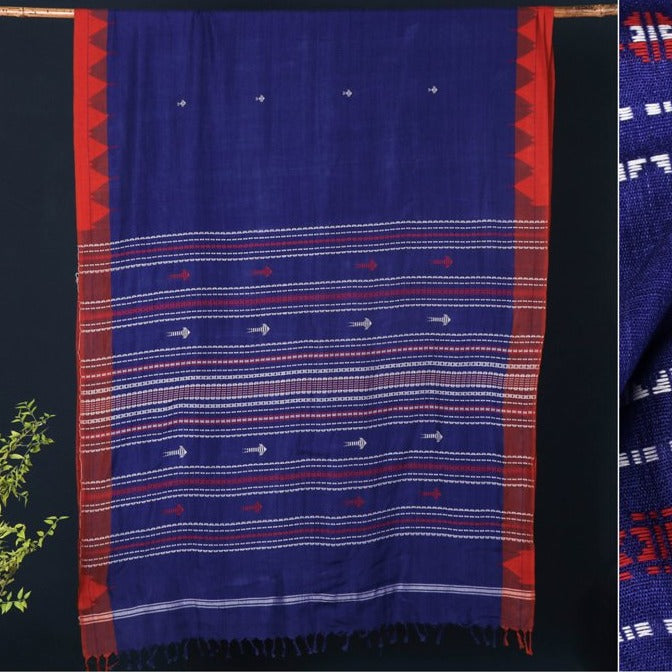 Tribal Kotpad Organic Cotton Handloom Natural Dyed Saree
