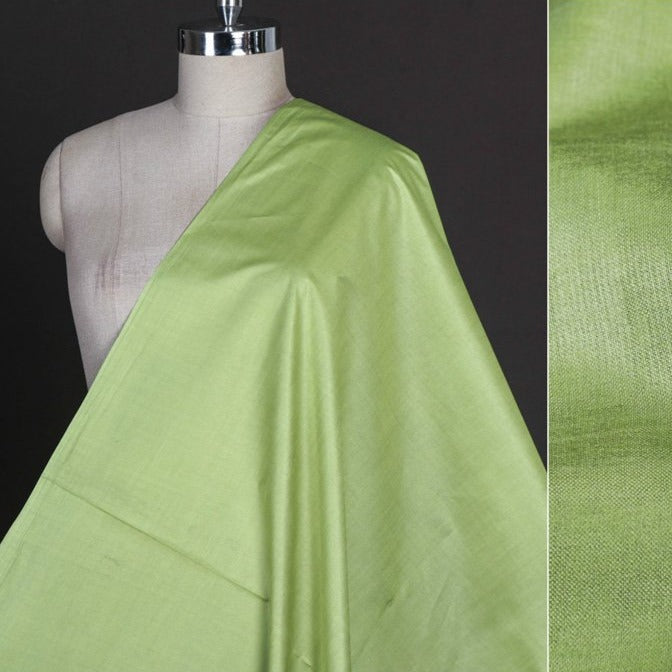Mint Green - Vidarbha Tussar Silk Cotton Handloom Fabric