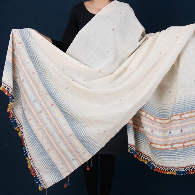 Organic Kala Cotton Pure Handloom Natural Dyed Dupatta