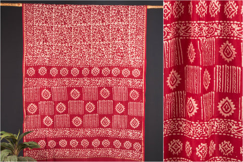 Chanderi Silk Batik Print Saree with Blouse