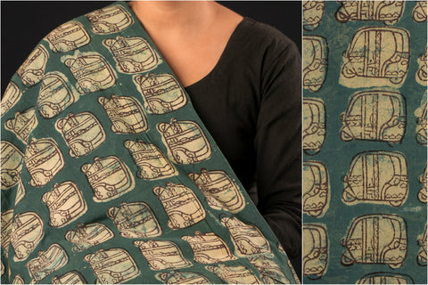 Bindaas Hand Block Print Natural Dyed Cotton Fabric