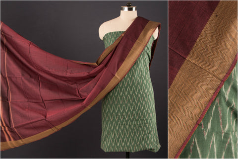 Narayanpet Zari Dupatta with Pochampally Ikat Fabric