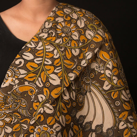 Cotton Silk Washed Kalamkari Print Fabric